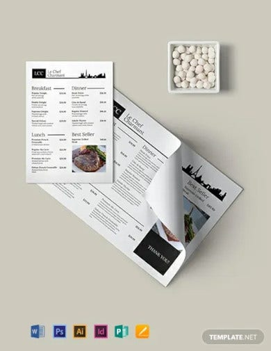 french menu template1