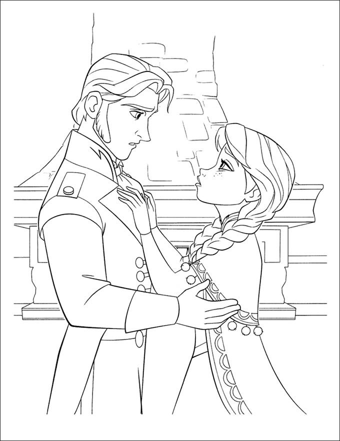 frozen character coloring pages - photo#4