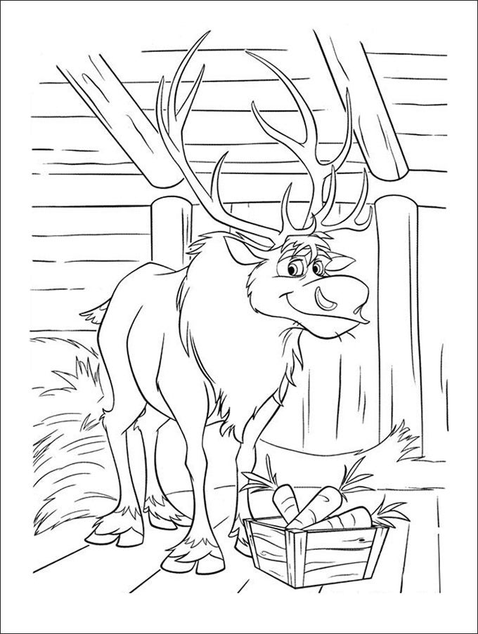 30 Frozen Coloring Page Templates