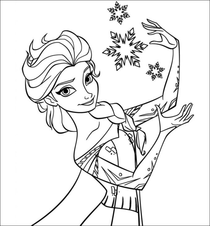 Frozen Coloring Page Free Printable