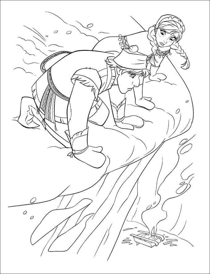 frozen coloring page free