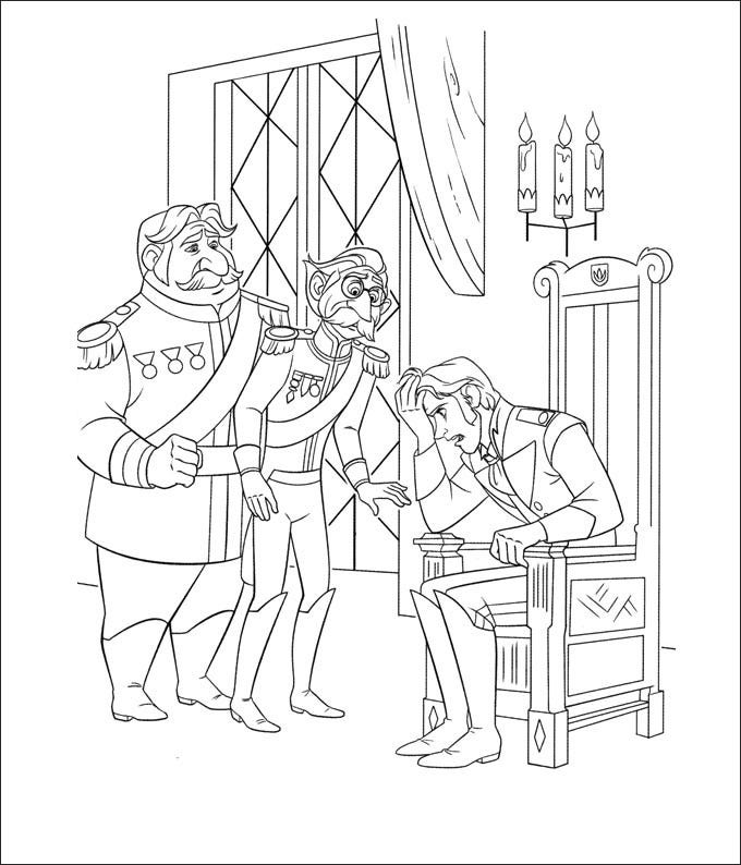 frozen coloring page printables
