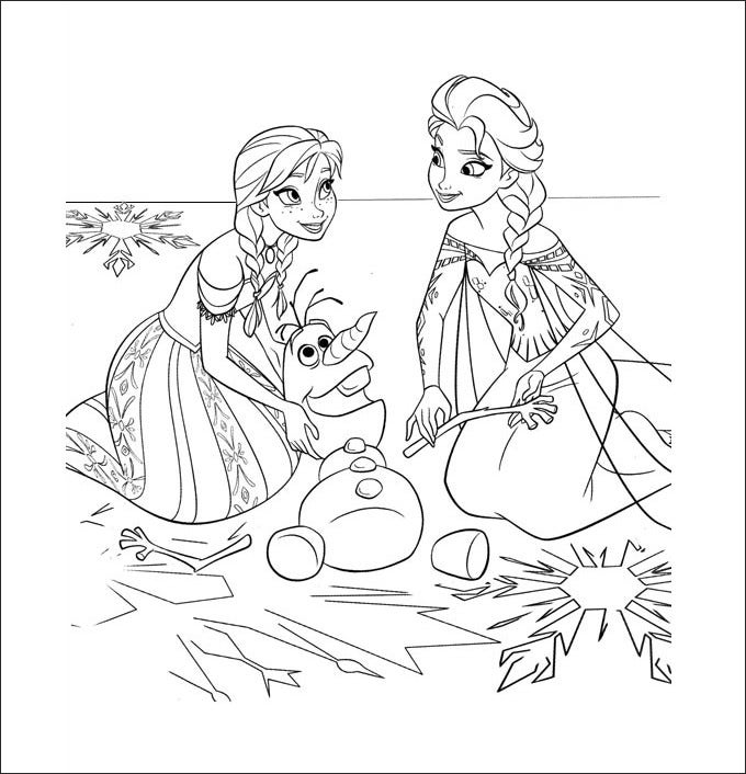 download this amazing and fascinating frozen coloring page online and let your kids give it a color to keep them busy in creative work
