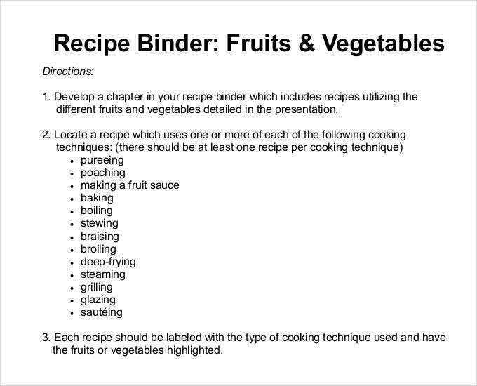 Cookbook Index Template Homemade Recipe Book Using Document Life
