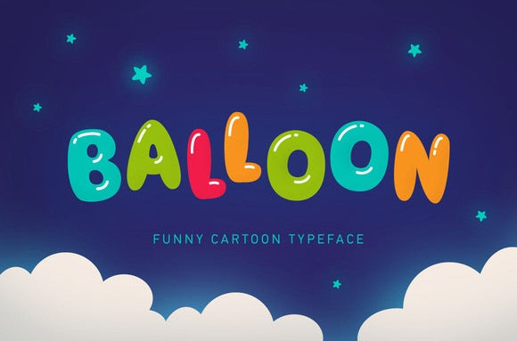 fun cartoon balloon font art