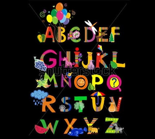 fun designful nursery alphabet letters