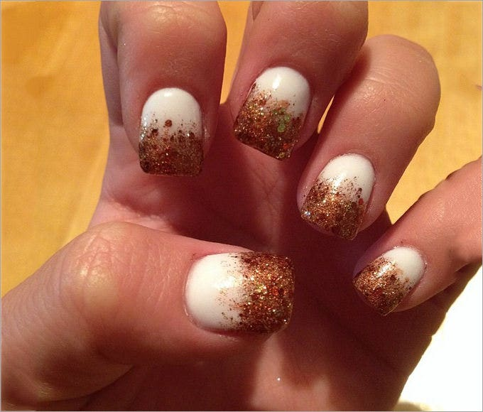fun fall nail design