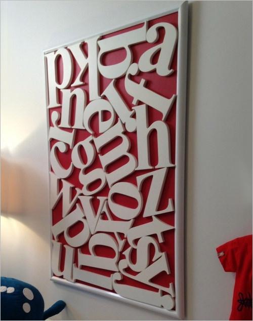 fun and inspiring nursery alphabet decorative letters