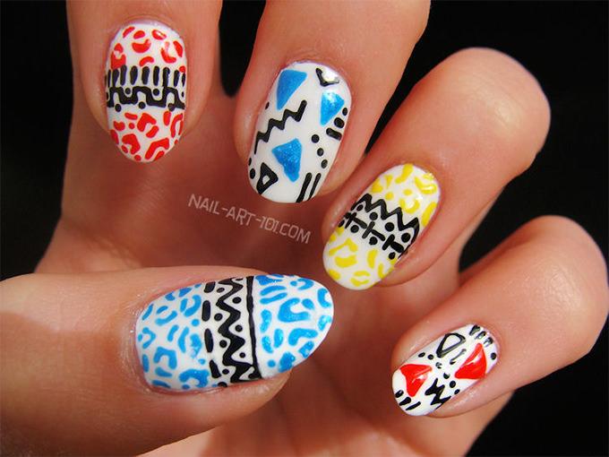 funky creative nail art
