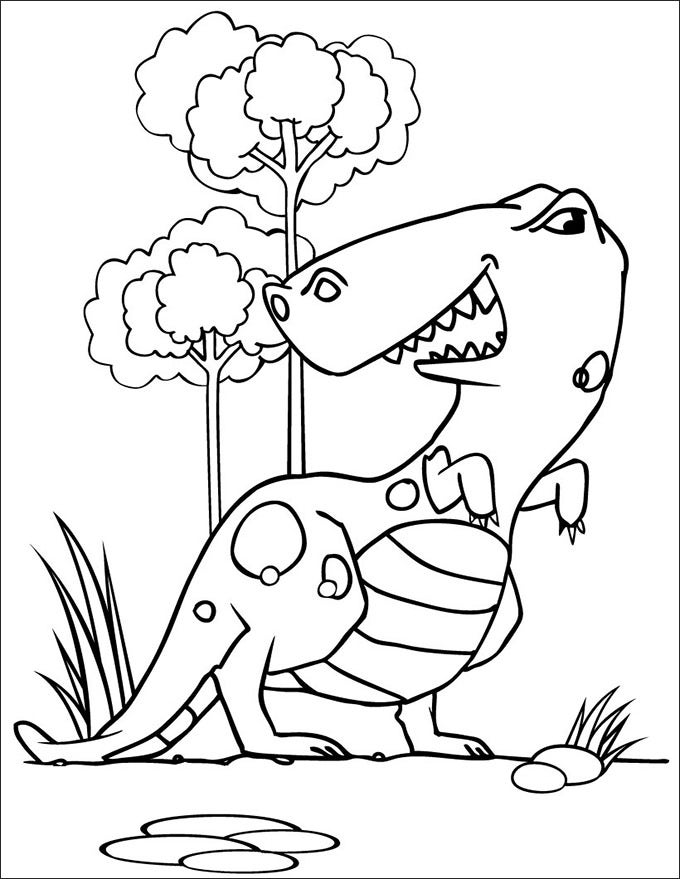 kids dinosaur coloring pages - photo#28