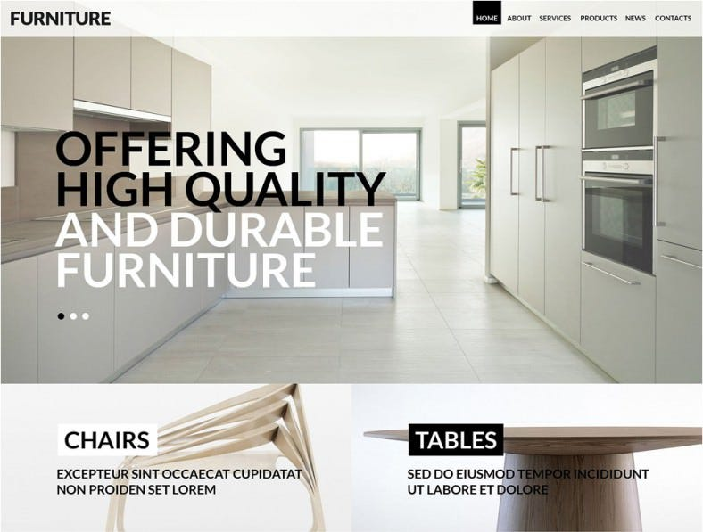 furniture for any taste wordpress theme 788x597