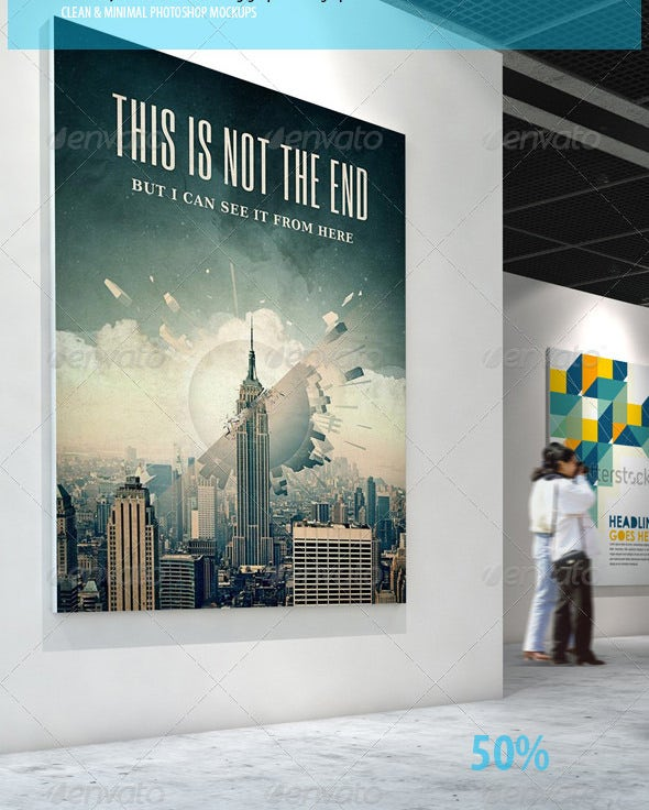 gallery psd poster mockups