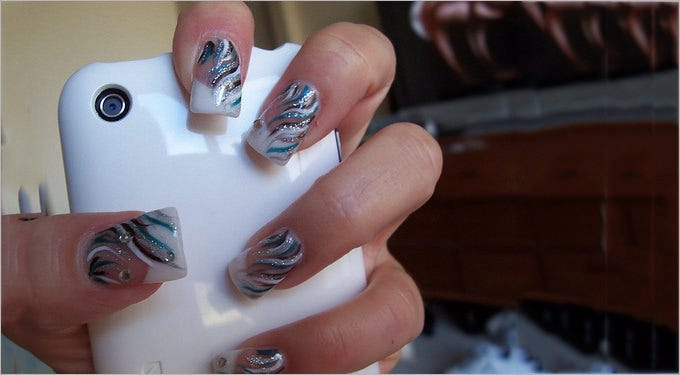 gel nail art design