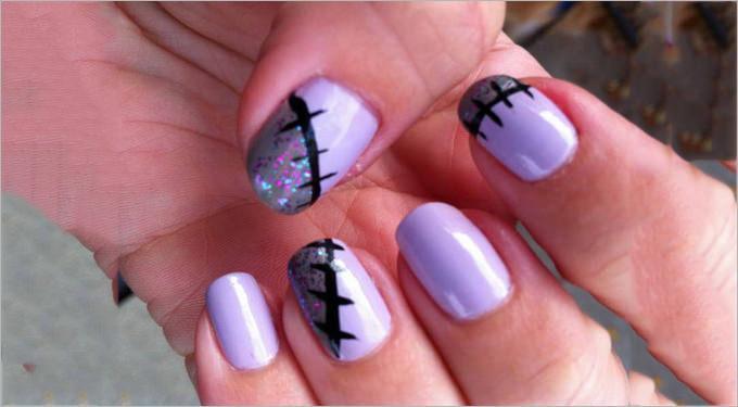 gel nail pattern