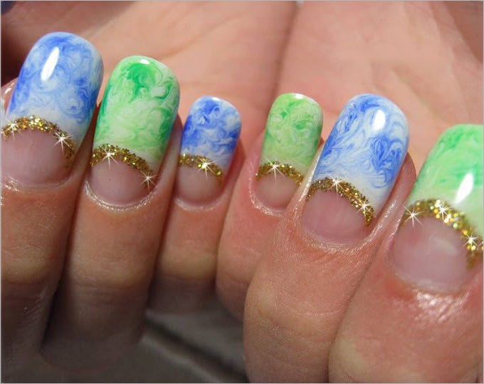 gel polish nail art