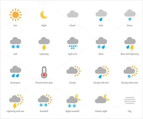 get weather colored icons