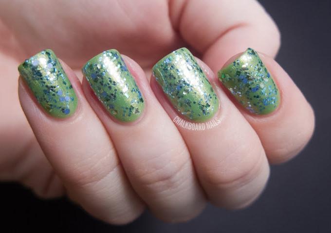 glitter acrylic nail designs