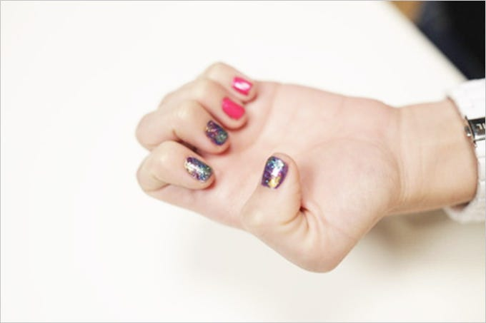 glitter french nail designs