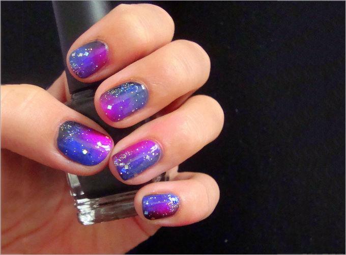 glitter nail polish design