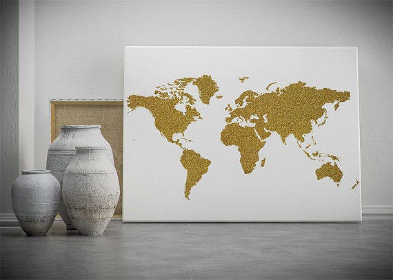 30 world map psd posters free psd posters download free gold world map poster gumiabroncs Images