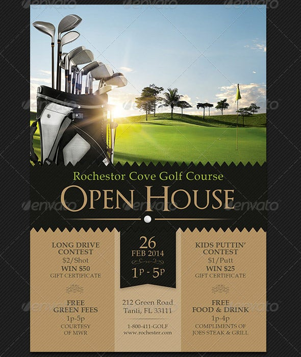 Golf Open House Flyer Template  Open House Flyers