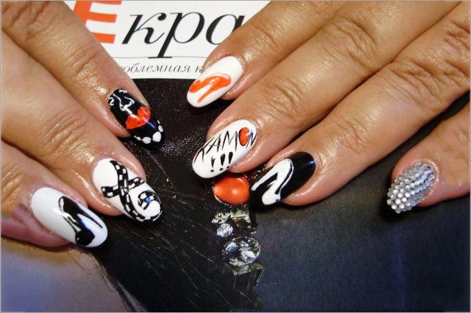 gorgeous fall nail design