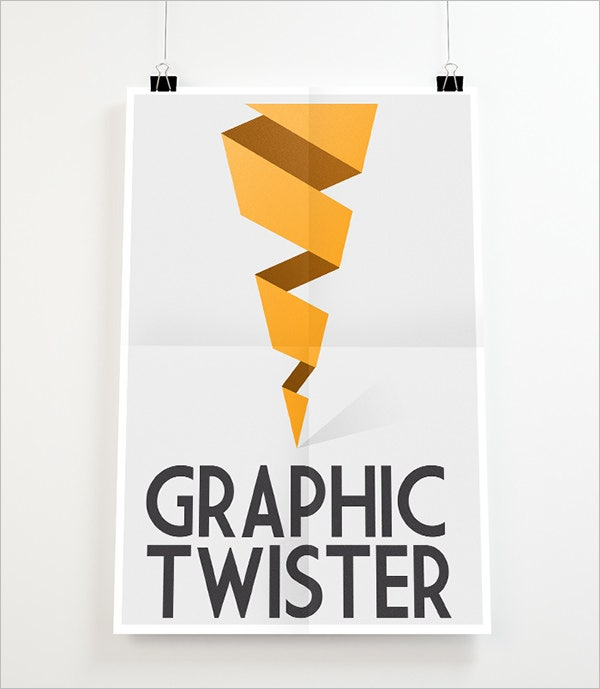 Graphic Twister Poster Mockup Templates