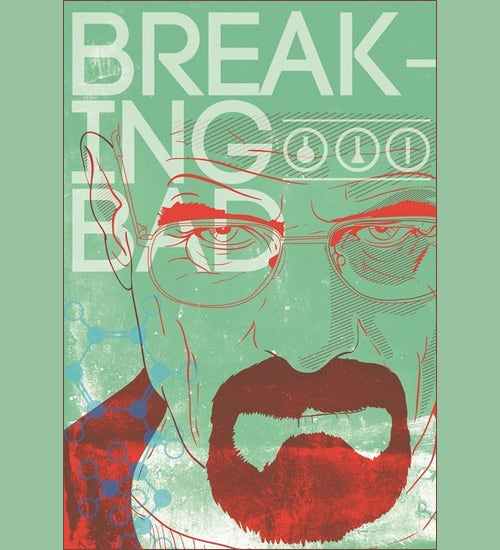 30 breaking bad psd posters free psd posters download free green art breaking bad poster urtaz Images