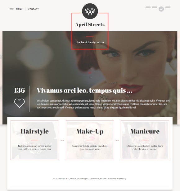 hair spa manicure drupal template