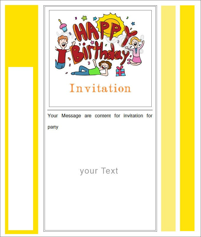 happy birthday blank ivitation free download