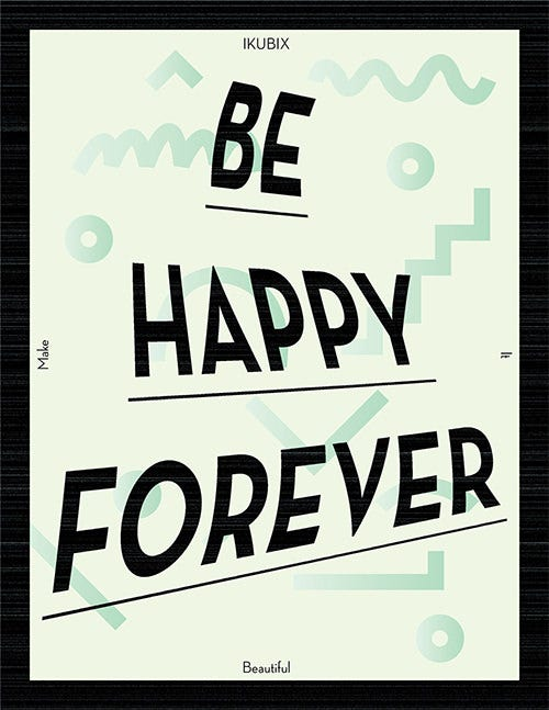 happy motivational psd posters