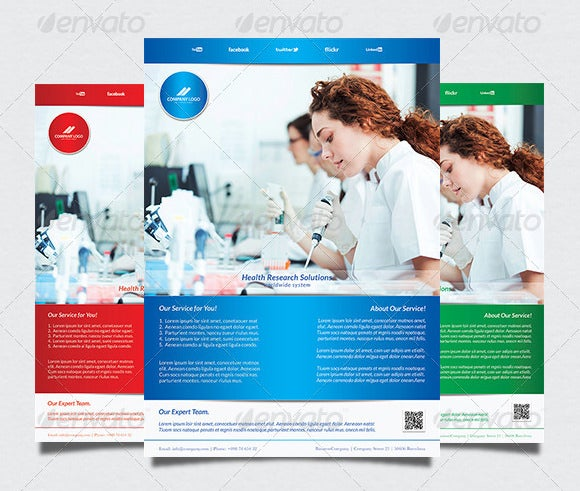 health medical poster template