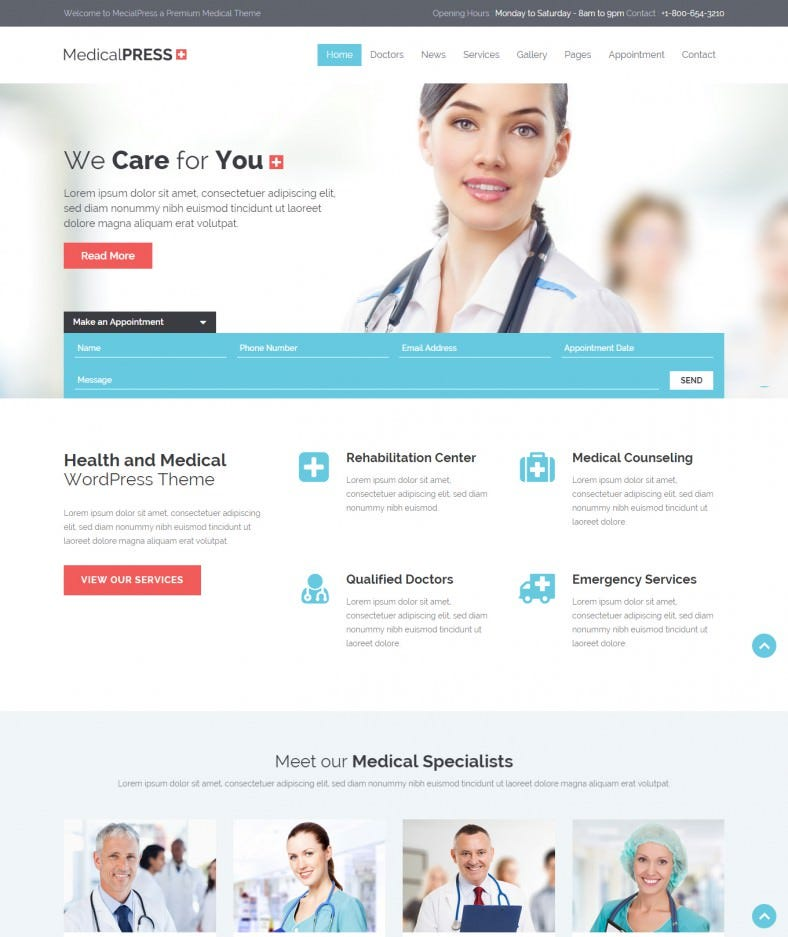 health and medical html gallery template 788x937