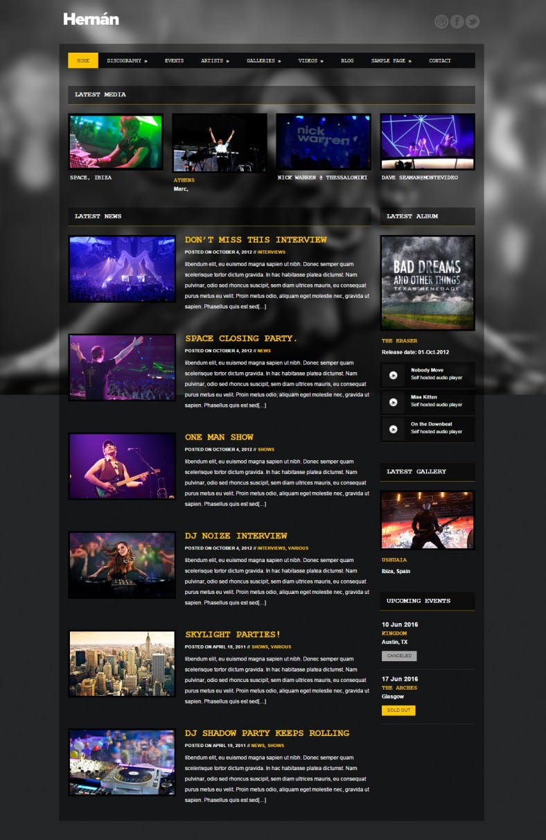 hernan dj wordpress theme 788x1212