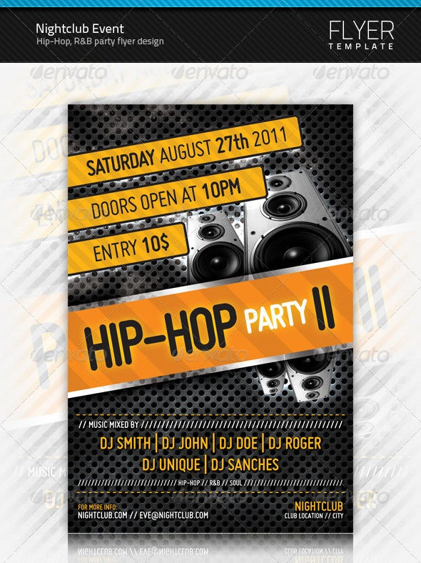 hiphop night club flyer template
