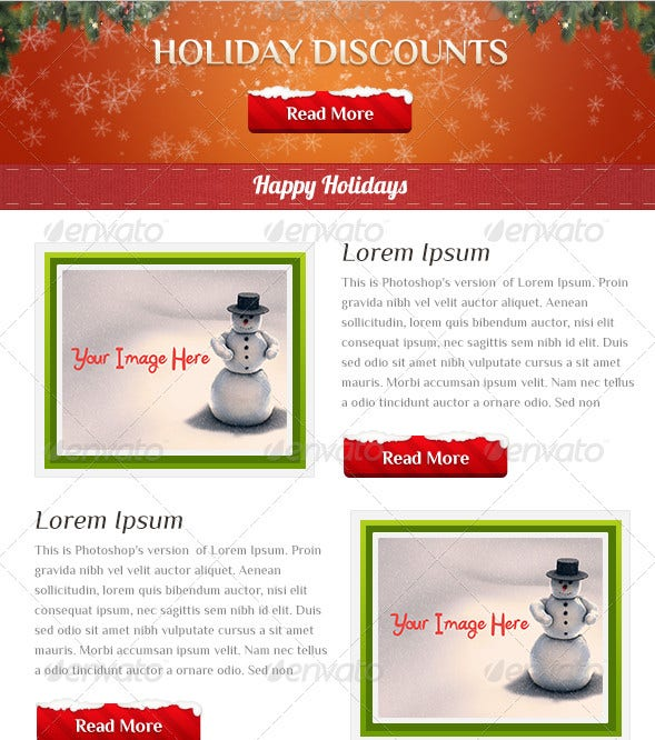 holiday business email template