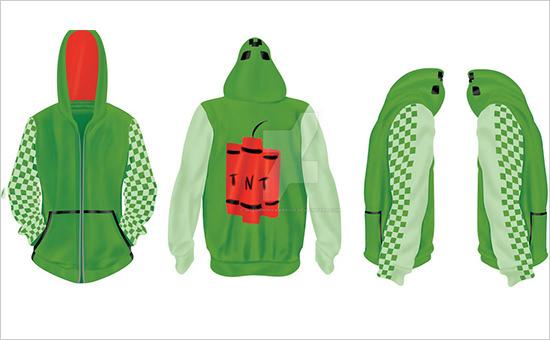 hoodie design creeper template