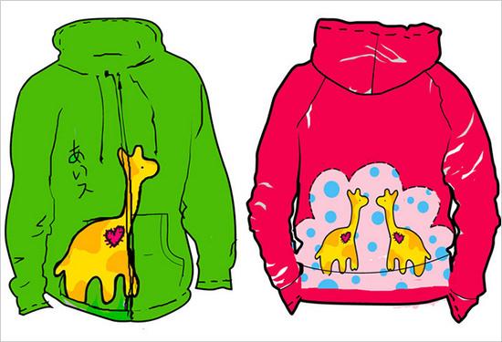 hoodie illustrator template