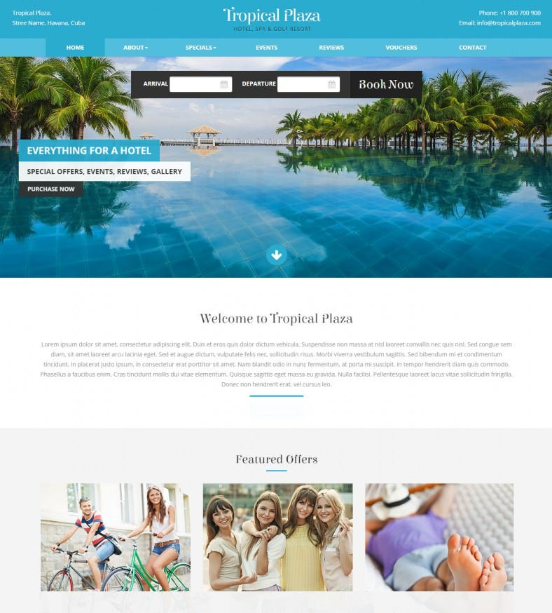 hotel html gallery template 788x874