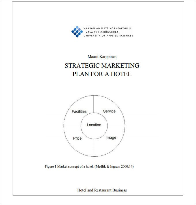 Hotel Marketing Plan Template   Free Pdf Documents Download