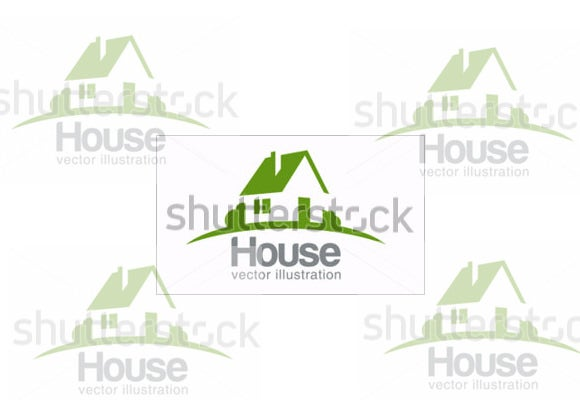house abstract construction company logo