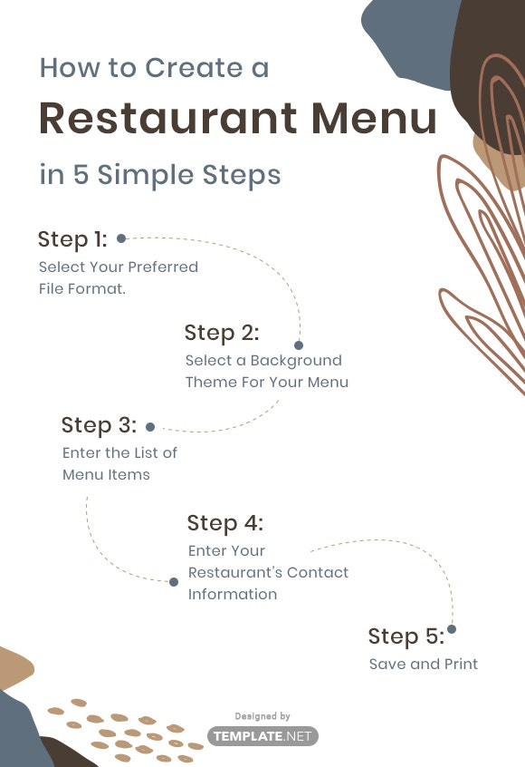 how to create a restaurant menu in 5 simple steps