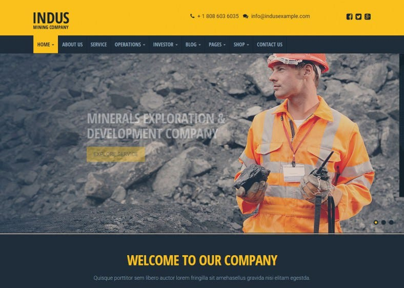 Industial Contruction Business WordPress Theme