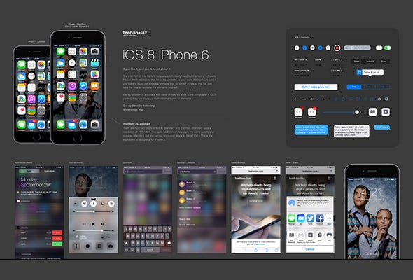ios free ui psd template download