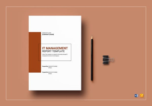 it management report template in ipages