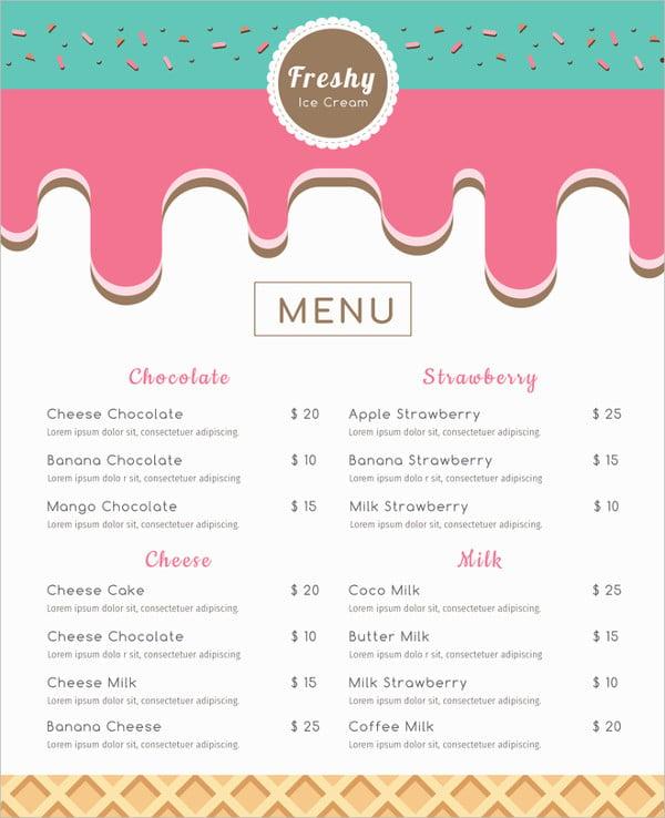ice-cream-menu-template