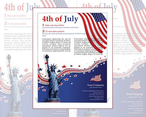 independance day word flyer template