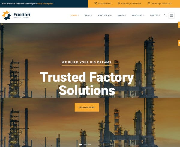 industrial factory business drupal 8