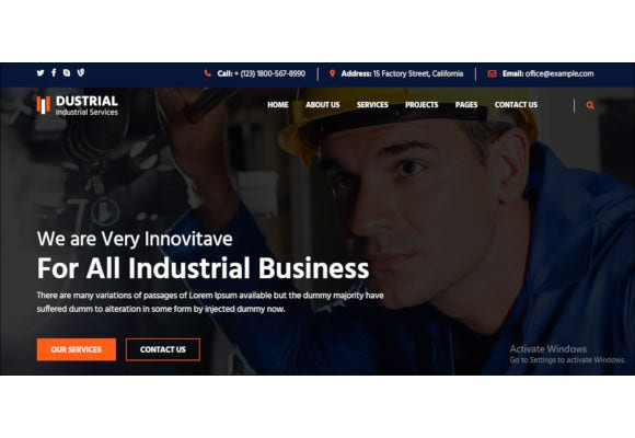 industrial wordpress responsive website theme1