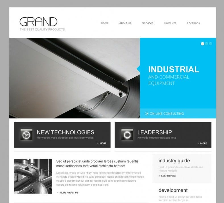 Grand Industrial WordPress Theme1